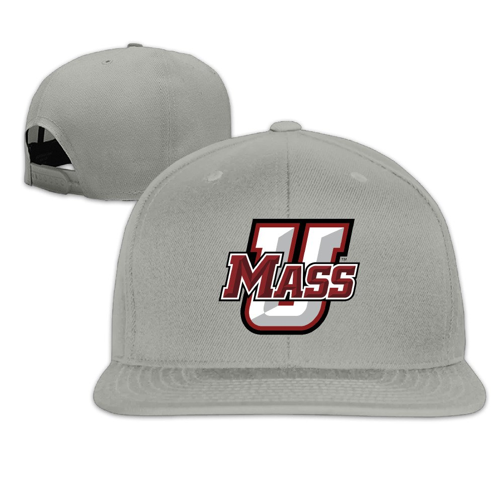 Custom Unisex Adjustable Sports UMass Primary Logo Snapback Flat Baseball Cap One Size