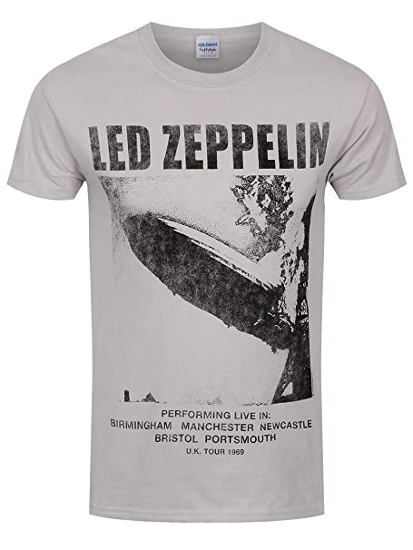 Uk esRopa '69 Y Led Zeppelin Camiseta Claro MAmazon Tour Gris OXwZluiTPk