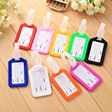 10 Pack - Waterproof Luggage Tags Travel Labels