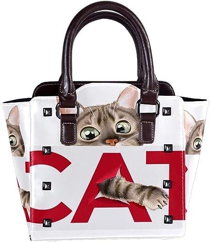 sac à main femme motif chat