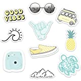 Stickers for Water Bottles–(10 Pack) Cute Waterproof and Perfect for Laptop