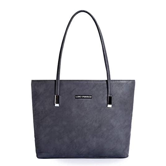 Lino Perros Women's Artificial Leather Tote Bag  Grey  Women's Totes