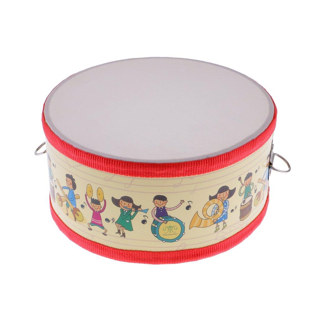 Baoblaze Tambour /à Main avec Sticks en Bois Jouet d/éveil Instrument /à Percussion Set Cadeau No/ël pour Enfants