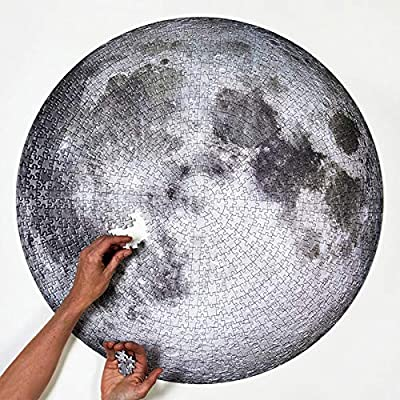 kebyy 1000 Pieces Jigsaw Puzzles Adult Difficult Circular Jigsaw Moon Funny Toys Learning Brain Challenge Puzzle for Adults Kids: Garden & Outdoor