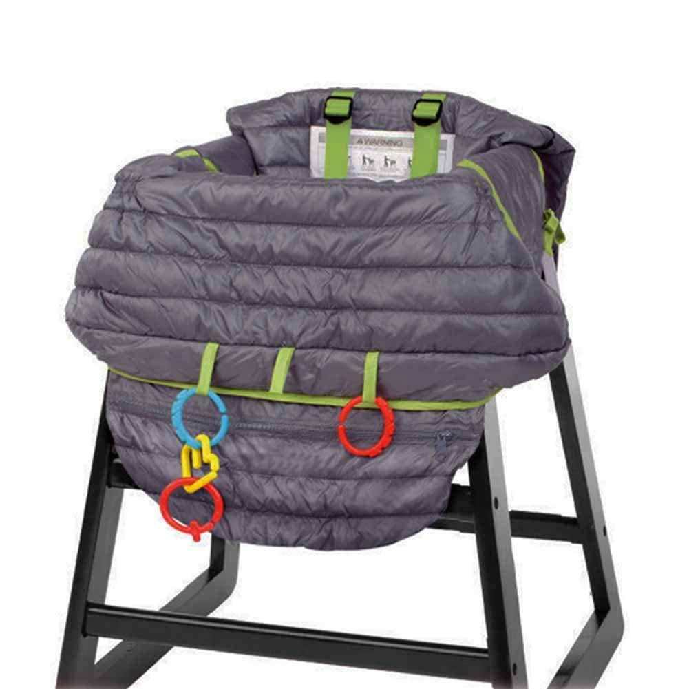 Waroomss Cojines para tronas, Cubierta silla alta para bebé, Almohadilla asiento bebé y Posicionador asiento, Almohadilla protectora portátil antibacteriana ...