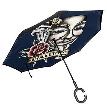 V for Vendetta - Paraguas invertido de Doble Capa con diseño ...
