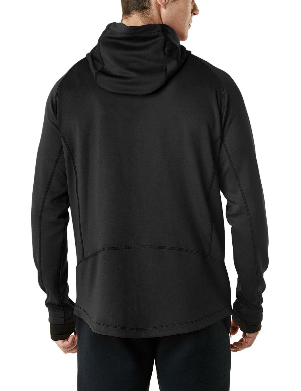 19efbed24 Amazon.com: TSLA Men's Performance Active Training Full-Zip Hoodie Jacket:  Clothing