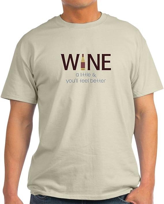 CafePress Wine a Little T-Shirt 100% Cotton T-Shirt