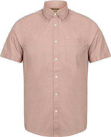 Tokyo Laundry - Camisa de popelina elástica para hombre