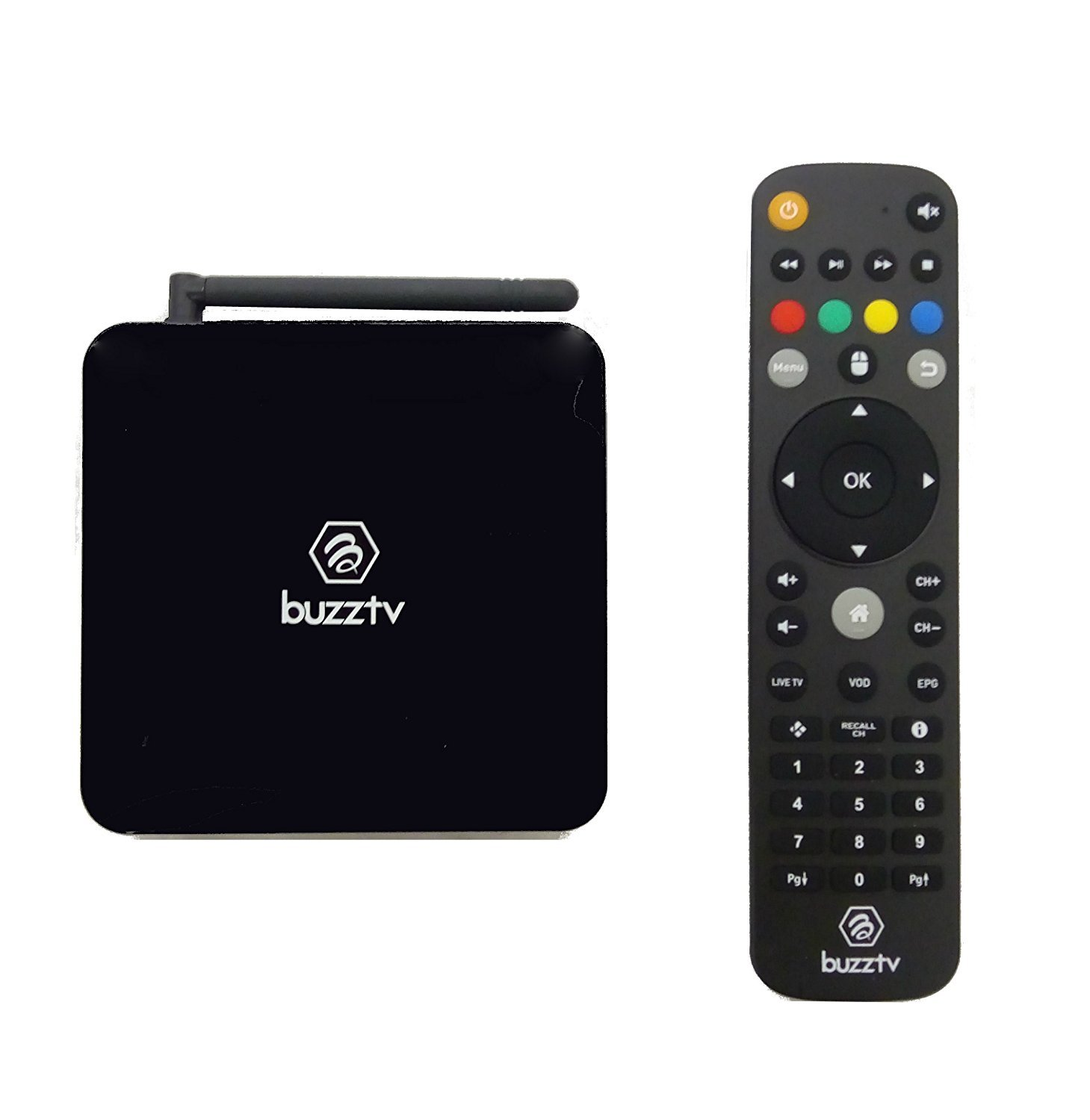 BuzzTV XPL3000 Quad Core Android TV Box and Premium Streaming Media Player Powered by 6 Marshmallow by Buzztv