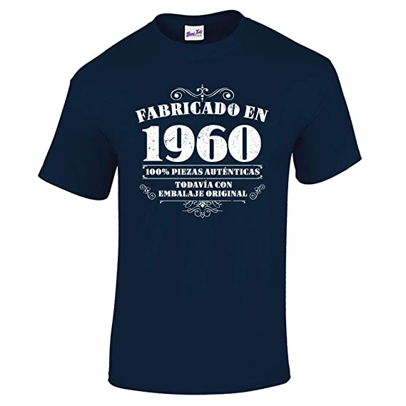 Bang Tidy Clothing Camiseta de Hombre para Regalo DE 60 cumpleaños Manufactured 1960