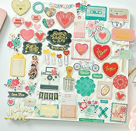 50 diseños en cartulinas San Valentin dia enamorados love para decorar libro de recortes scrapbooking de