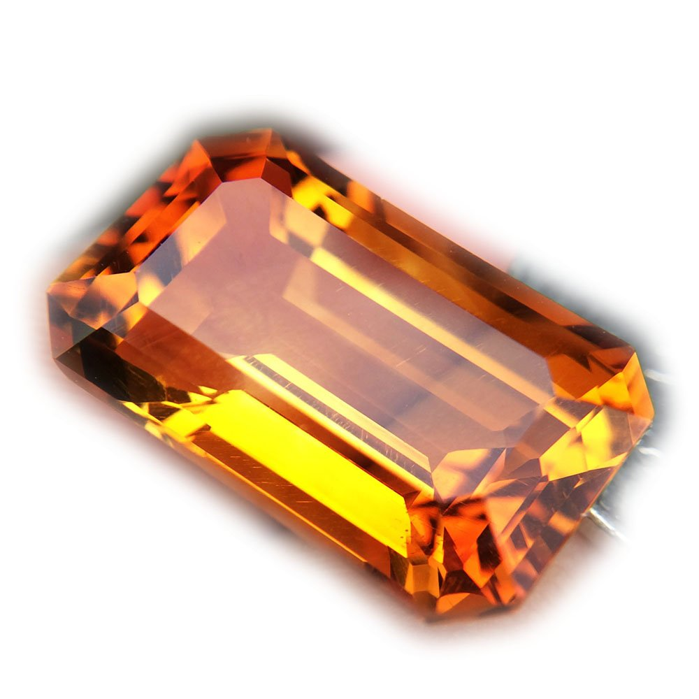 Certified GLC 14.85ct Natural Octagon Unheated Yellow Citrine Brazil #B