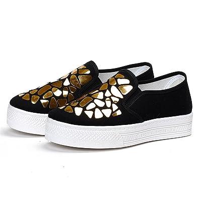 e643a83b4 Amazon.com | edv0d2v266 Women Flats Summer Canvas Shoes Thick-Soled Shoes  Female Flats Shoes Ladies Fashion Casual Shoes Women Flats | Fashion  Sneakers