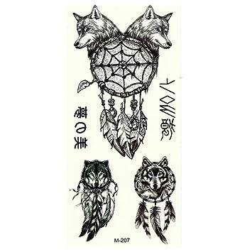 Justfox – Tatuaje temporal, diseño atrapasueños, tatuaje adhesivo ...