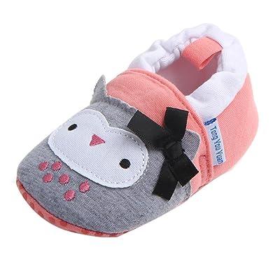 Bonjouree Chaussures Souples Antidérapant Premiers Pas Pour Bébé Filles et Garçons