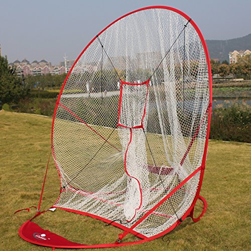 7' X 7'New Redesigned Instant Screen batting net||Baseball Softball net | 7x7 Hitting Net | Strike Zone Target | Carry Bag | Practice Batting, Pitching, Catching |Backstop Screen Equipment Training by Galileo