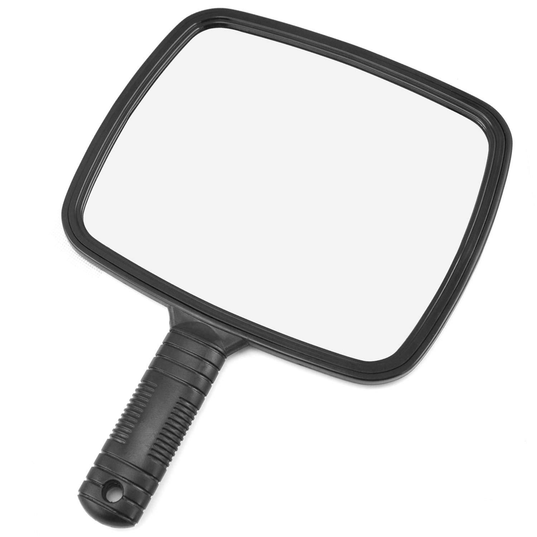 TRIXES Specchio Portatile Professionale per Salone Parrucchiere, Barbiere, con Manico QQ61