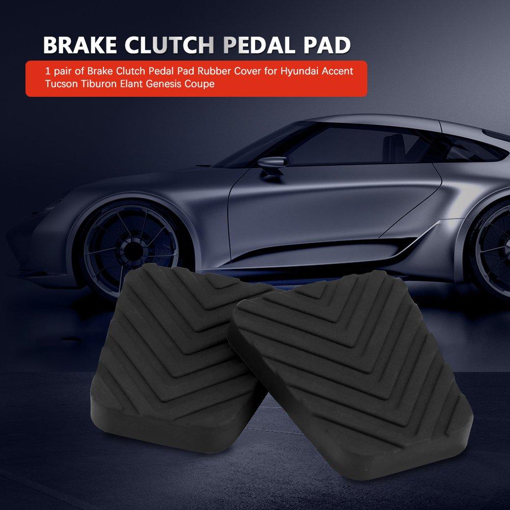 Almohadillas del pedal del embrague de freno, 1 par de almohadillas de goma para el pedal del embrague del freno de alta resistencia: Amazon.es: Coche y ...
