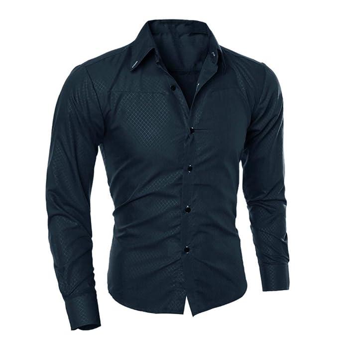 Camiseta para Hombre, RETUROM Blusa Estampada Hombre Camisas de Manga Corta Casual (S,