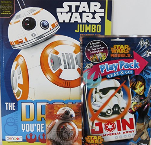 Star Wars Coloring & Activity Book with BB8, Play Pack, and Crayons - Original Boba Fett Costume