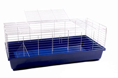 Conejo jaula jaula cobaya Animales Pequeños Rabbit 1,20 m azul ...
