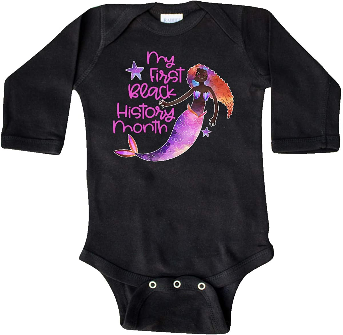 inktastic My 1st Black History Month with Mermaid and Long Sleeve Creeper
