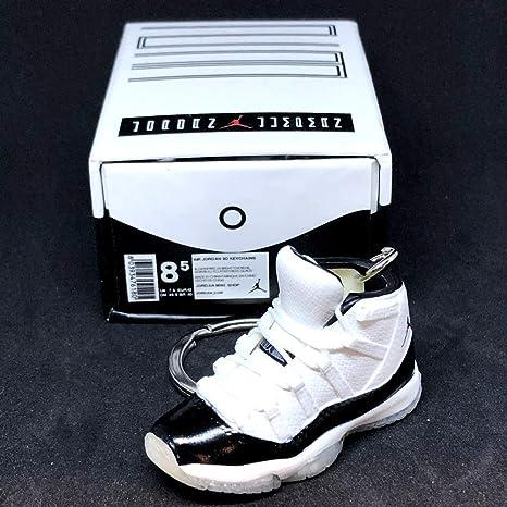 timeless design 1c923 8fc74 Amazon.com: Air Jordan XI 11 High Retro Concord Black White ...