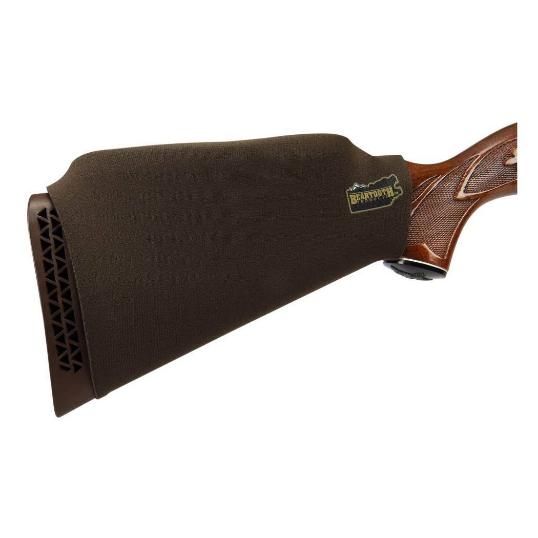 Beartooth Brown comb raising kit - neoprene gun rifle stock guard with inserts