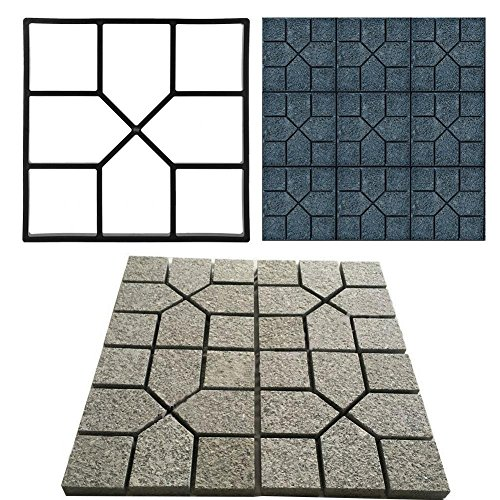 Cocoarm Concrete Mould, DIY Square 8 Grid Driveway Brick Patio Concrete Slab Paving Pavement Stepping Stone Mold Garden Lawn Path Paver Walk Maker Mould 40 x 40cm