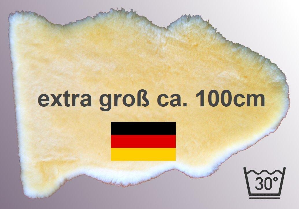 *** unser Bestseller: LANABEST XXL, extra großes medizinisches Merino Lammfell in Premium-Qualität. In Deutschland hergestellt. Dichtes Fell, zart, wohl-riechend, 30 Grad waschbar. Größe ca.100cm LANAMED
