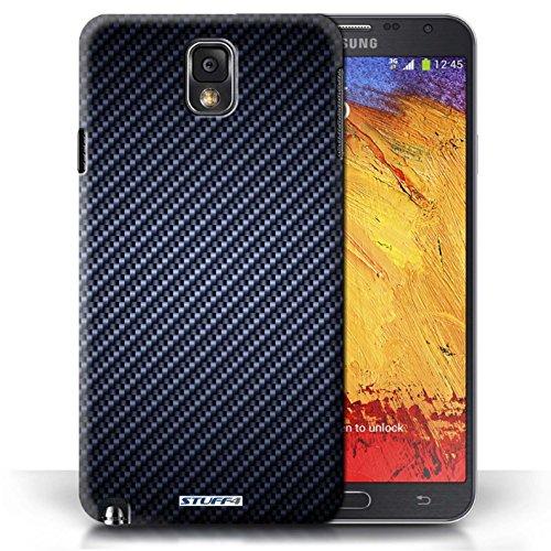 Etui / Coque pour Samsung Galaxy Note 3 / Bleu conception / Collection de Motif de Fibre de Carbone