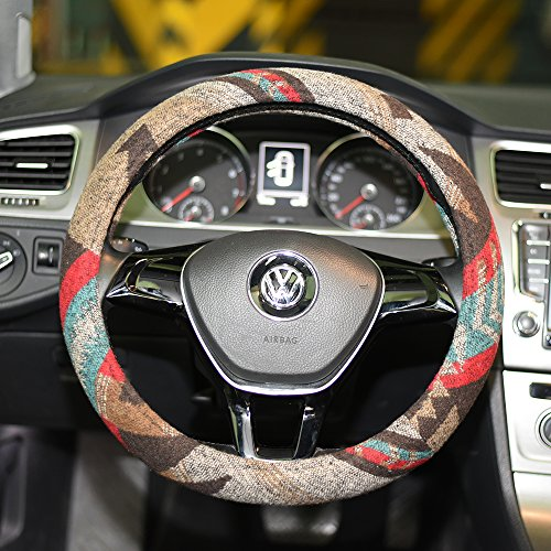 16sixteen the best amazon price in savemoney es16sixteen universal 15inch ethnic style baja blanket steering wheel cover with coarse flax cloth and sweat
