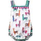 (ラランドリー) Laraandlory ベビー服 女の子 ロンパース カバーオール アルパカ スナップボタン付き 可愛い 出産祝い 誕生日 夏 80/6-12ヶ月