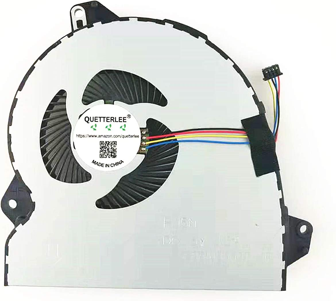 QUETTERLEE New CPU Cooling Fan for ASUS ROG Strix GL553 GL553V GL553VE GL553VD GL553VW ZX53 ZX53V ZX53VE ZX53VD ZX53VW GL753 V VD VE FX73 FX53 KX53 FX53V FX53VD FX53VE Series DFS2001055GOT FJ5N Fan