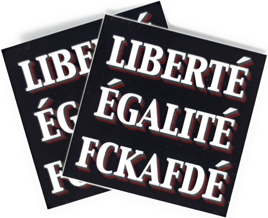 Liberté Egalité Fckafdé Sticker 5x5cm 50 Stück Auto