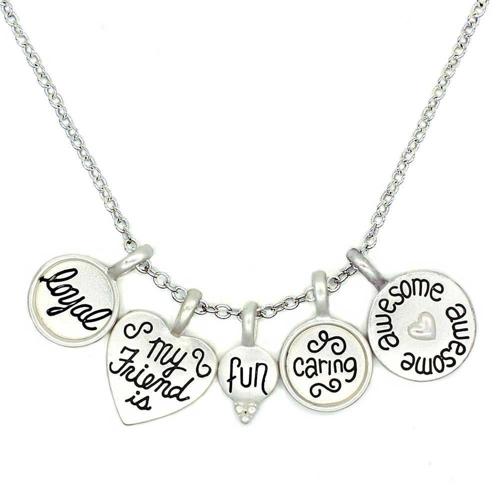 You Are Special 'Friend' Charm Necklace Adjustable Soft Matte Silver Necklace With Engraved Words Of Love (Silver Plated) Perfect Gift For Any Friend Ceswx 202755S