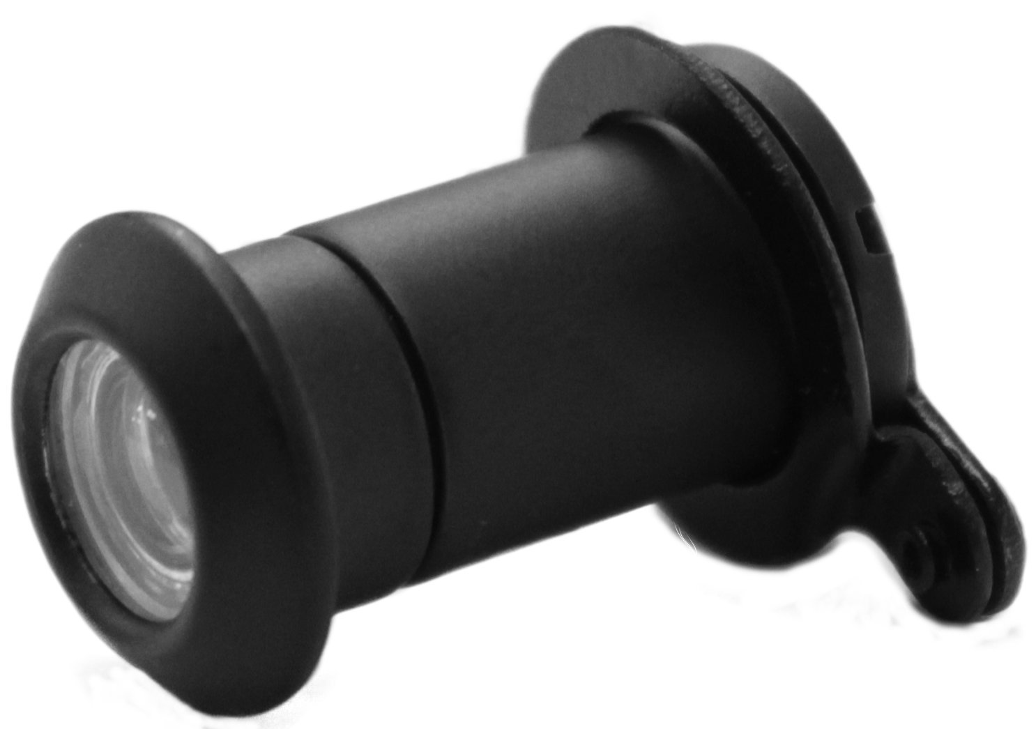 uPVC Door Viewer + FREE Privacy Cover - Black Spyhole - 160 Degree Peephole - Designed for Door Thicknesses Between 20-35mm UAP