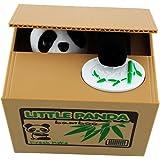 Peradix Salvadanaio Elettrico Gatto Furbo, Ottimo Regalo per Bambini e Amanti dei Gatti, Batterie non Incluse( panda)