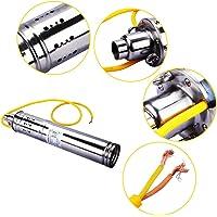 Simlug Bomba Sumergible para pozos Profundos, 500W 24V 50M 3m³ / H DC Bomba de Agua con energía Solar sin escobillas para pozos Profundos sumergibles