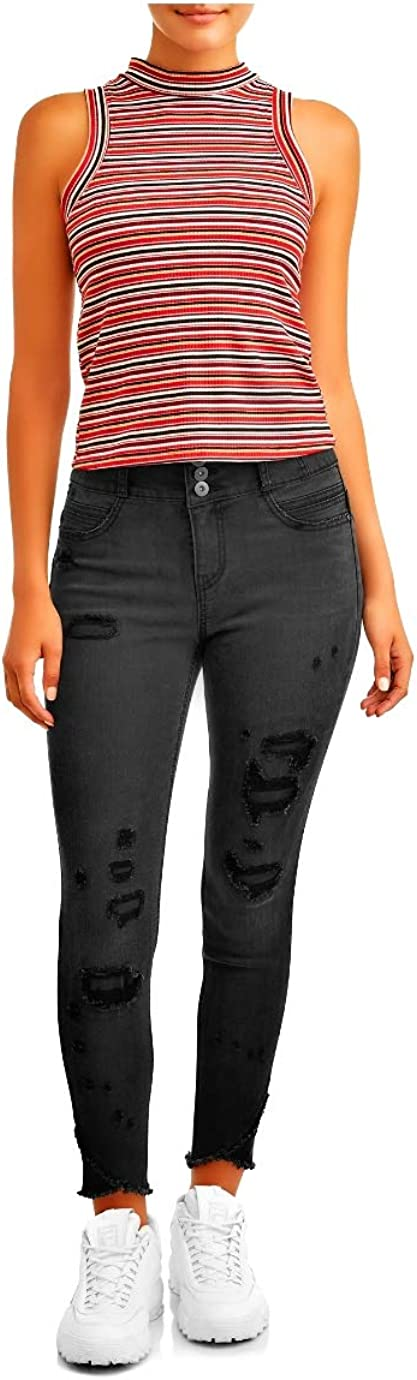 No Boundaries Juniors Corset Waist 3 btn Skinny Jeans
