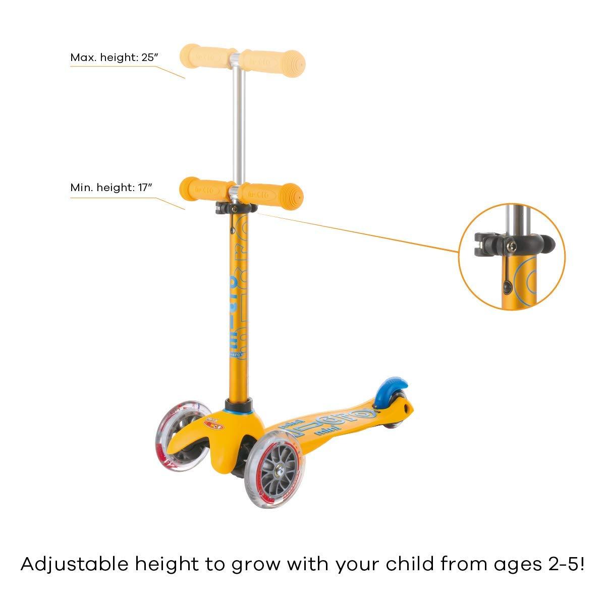 Amazon.com: Mini Deluxe - Patín de 3 ruedas para niños de 2 ...