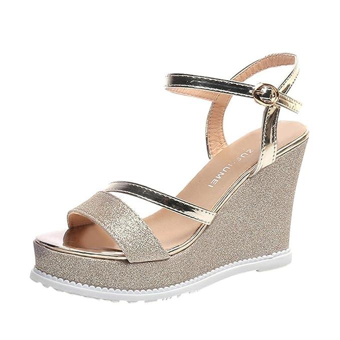 Mujer Para De Cuña MujerReturom 2018 Las Sandalias Zapatos OiZluPkXTw