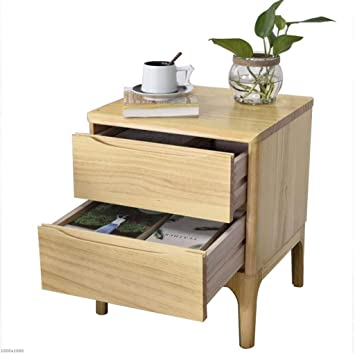 TX ZHAORUI Table De Chevet en Bois Massif Simple Montage en ...