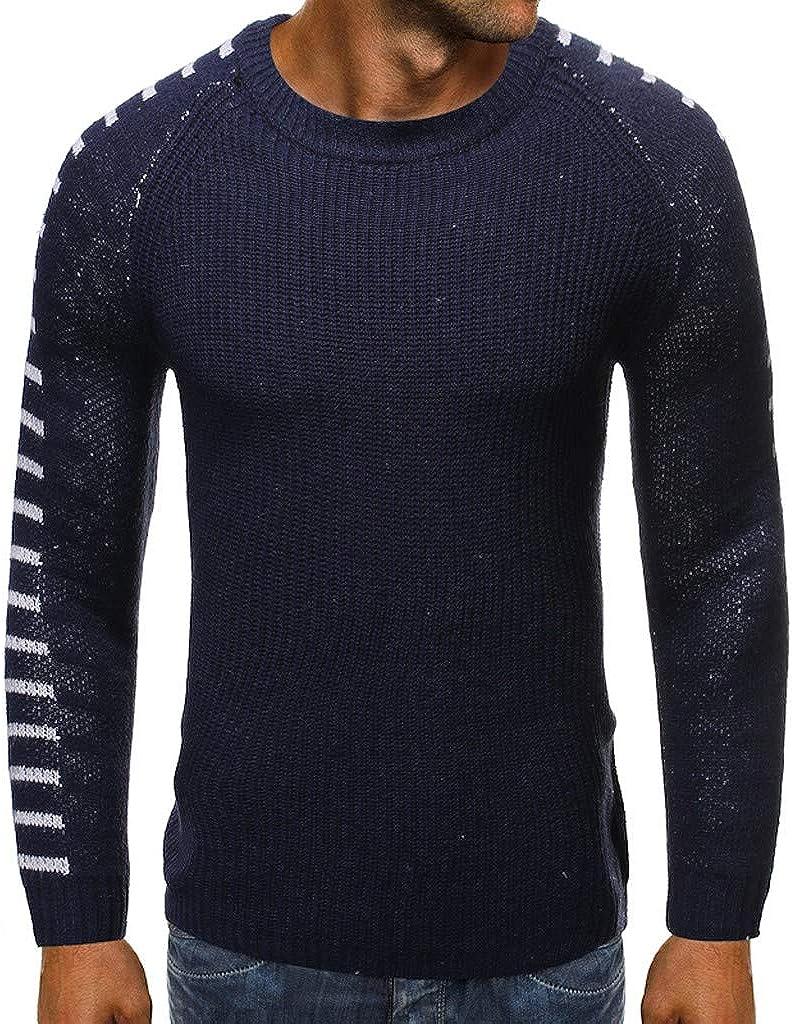 Maglioni Pullover Ultimo Moda Uomo Caldo Basic Autunno-Inverno Maglia alla Moda Girocollo Maniche Lunghe Maglioni Casual Felpa Slim Fit