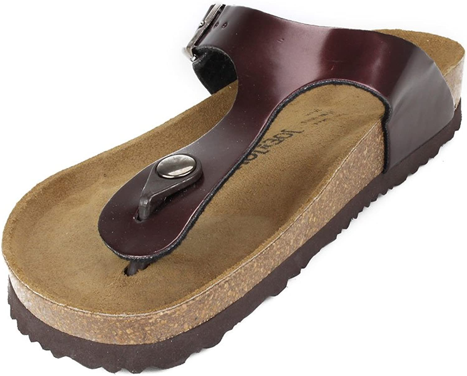Sizes W5-W11 // M4-M9 JOE N JOYCE Rio Women Thong Sandals Cork Flip Flops with Comfort-Footbed for Women Basic Colors