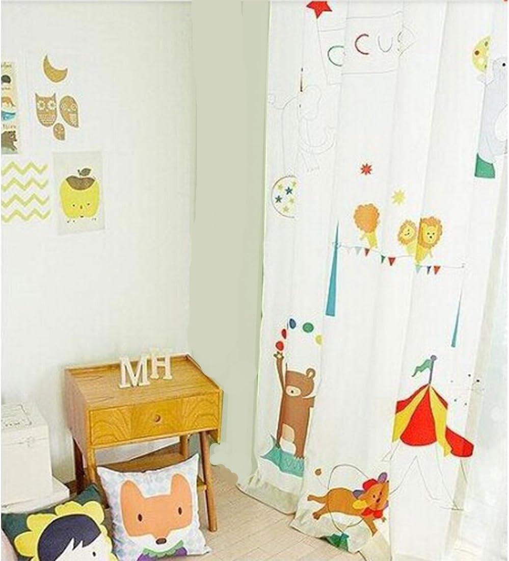 GWELL Kinderzimmer Gardinen Vorhang B/är Motiv /Ösenschal Dekoschal f/ür Wohnzimmer Schlafzimmer 1er-Pack 260x130cm rechter B/är HxB