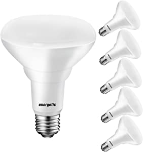 75W BR30 LED Recessed Light Bulb, Dimmable, 900 Lumens,5000K Daylight, E26 Base, Indoor Flood Light for 5/6 Inche Cans, UL Listed (Pack of 6)