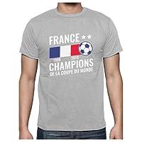 France - Champions Coupe du Monde de Football 2018 T-Shirt Homme