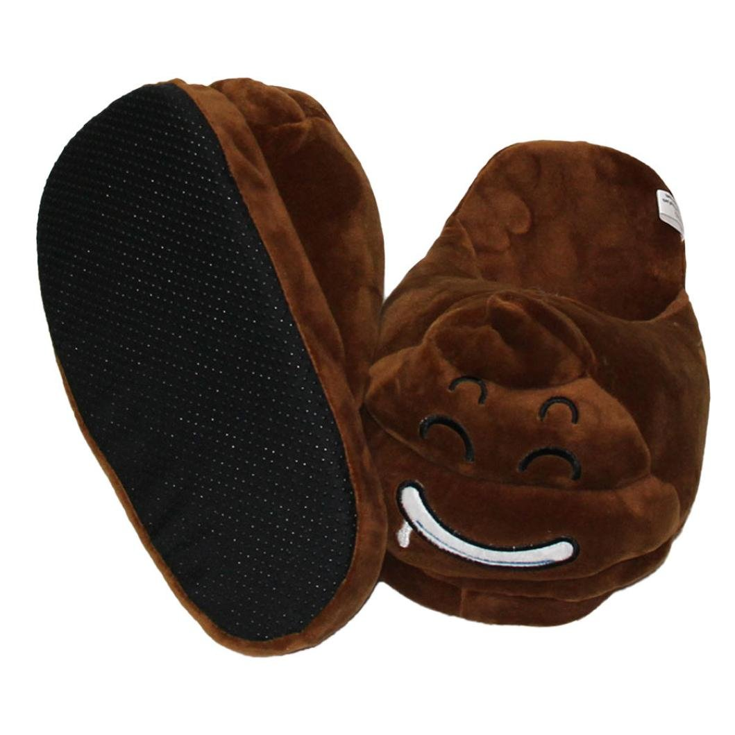 Sannysis® emoji Moda peluche Pantofole Pantofole Pantofole Espressione Creativa mezzo pacchetto con pantofole in lana C a51259